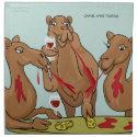 Camel Wine Tasting Napkins