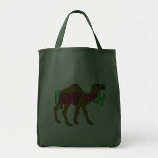 Camel with Hump Day in Pink and Green Grocery Tote Bag