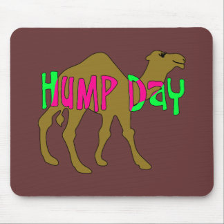 Camel with Hump Day in Pink and Green Mouse Pad