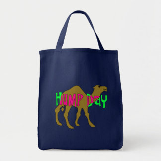 Camel with Hump Day in Pink and Green Tote Bag