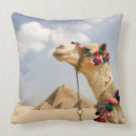Camel with Pyramids Giza, Egypt Pillow