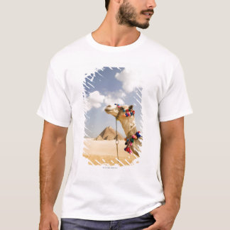Camel with Pyramids Giza, Egypt T-Shirt