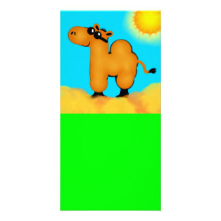 Camel with Shades Designed Book Mark Card