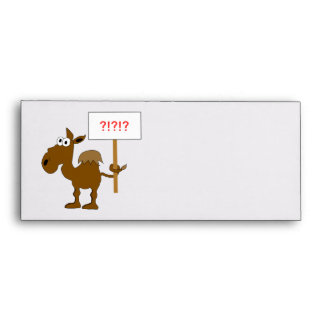 Camel With Sign Envelope Template
