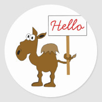 Camel With Sign Sticker