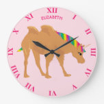 Camel With Two Humps And Unicorn Head Mix Cool Large Clock
