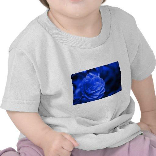 camelia azul camiseta