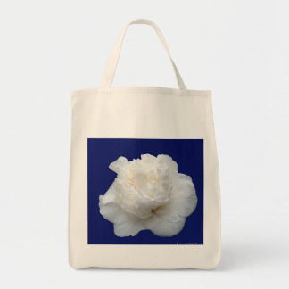 Camelia blanca bolsa tela para la compra