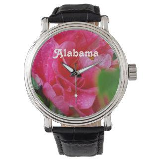Camelia en Alabama Relojes De Mano