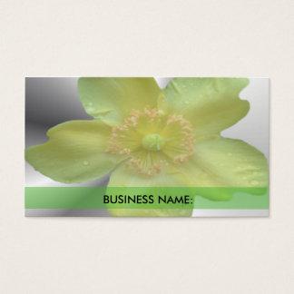 Camelia Flower Business Card