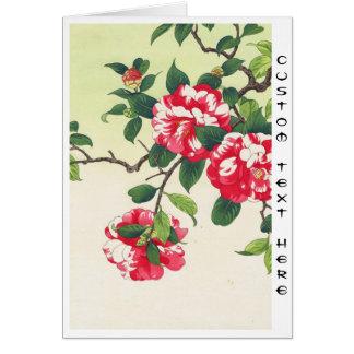 Camelia Nishimura Hodo ukiyo-e  flowers art Cards