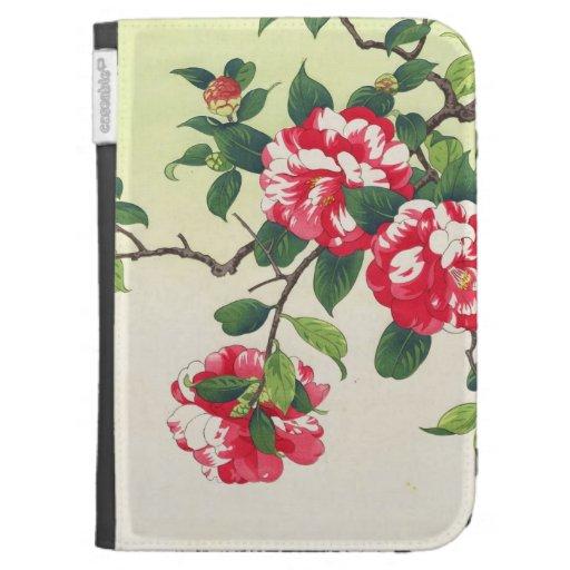 Camelia Nishimura Hodo ukiyo-e  flowers art Kindle Case