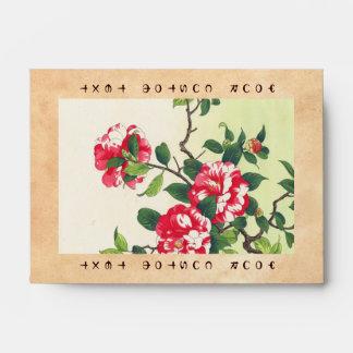 Camelia Nishimura Hodo ukiyo-e  flowers art Envelope