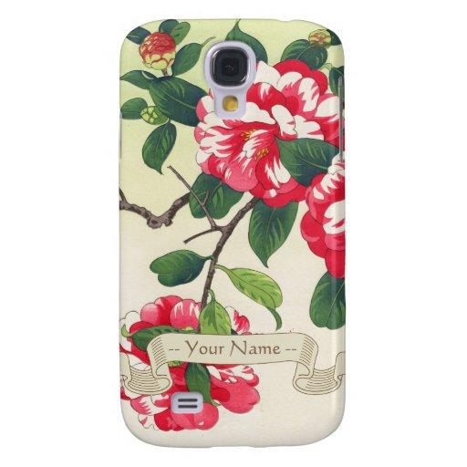 Camelia Nishimura Hodo ukiyo-e  flowers art Galaxy S4 Cases