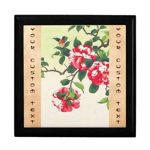 Camelia Nishimura Hodo ukiyo-e  flowers art Jewelry Boxes