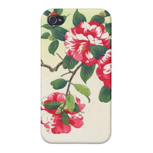 Camelia Nishimura Hodo ukiyo-e  flowers art iPhone 4/4S Cases