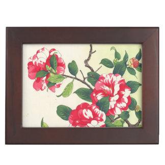 Camelia Nishimura Hodo ukiyo-e flowers art Keepsake Box