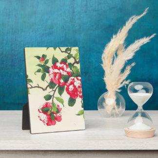 Camelia Nishimura Hodo ukiyo-e  flowers art Plaque