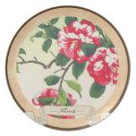 Camelia Nishimura Hodo ukiyo-e flowers art Party Plates