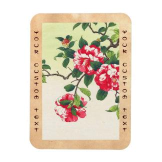 Camelia Nishimura Hodo ukiyo-e flowers art Rectangle Magnet