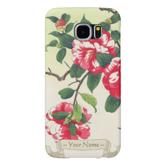 Camelia Nishimura Hodo ukiyo-e  flowers art Samsung Galaxy S6 Case