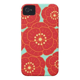 Camelia roja Case-Mate iPhone 4 cárcasas