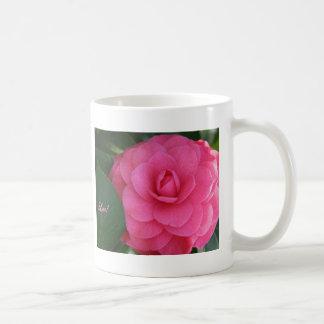 ¡Camelia, rosa, con amor! Tazas De Café