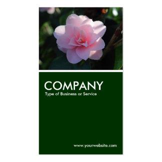 Camelia rosada - verde oscuro plantillas de tarjetas personales