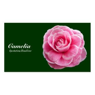 Camelia rosado - 003300 verde oscuro tarjeta de visita