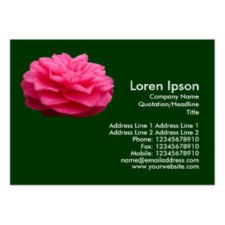 Camelia rosado 3 - verde oscuro plantilla de tarjeta personal