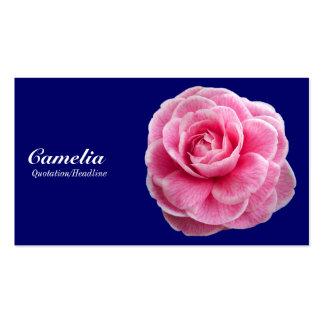 Camelia rosado - azul marino 000066 tarjeta de visita