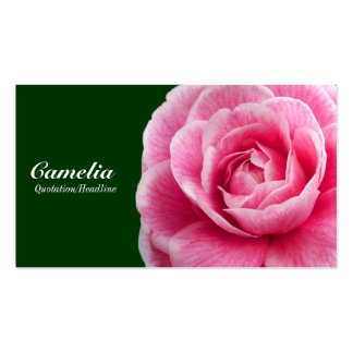 Camelia rosado II - 003300 verde oscuro Tarjetas De Negocios