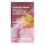 Camelia rosado plantilla de tarjeta de negocio