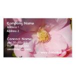 Camelia rosado tarjetas de visita