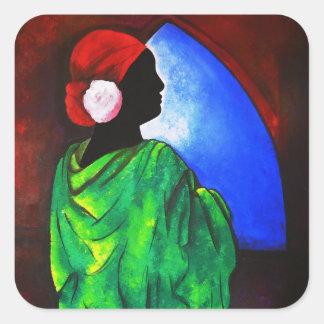 Camelia Rose 2008 Square Sticker