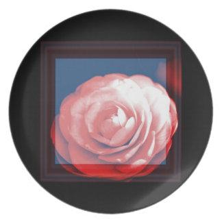 Camelia Rose Melamine Plate