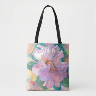 Camelia Tote Bag- from a watercolor by Andy Mathis