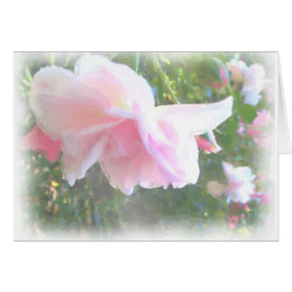Camelia water colour card