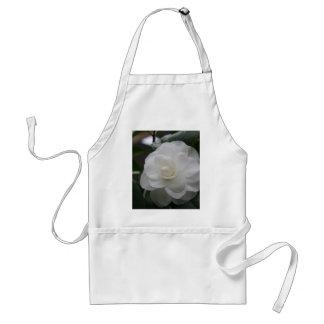 Camelia, white apron
