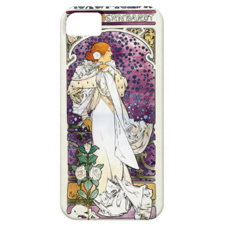 camélias aux. de la dama del la de Alfons Mucha iPhone 5 Carcasas