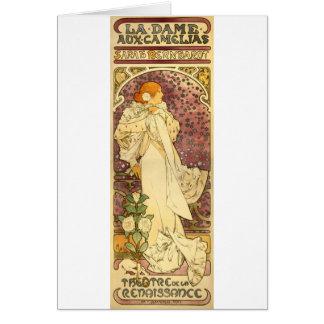 Camelias aux. de la dama del La Tarjeta De Felicitación