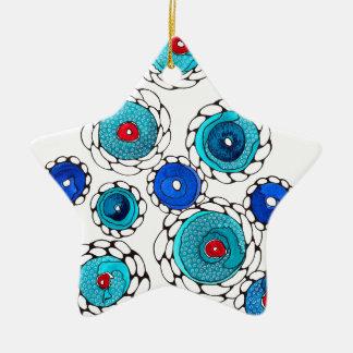 camelias ceramic ornament
