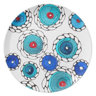 camelias melamine plate
