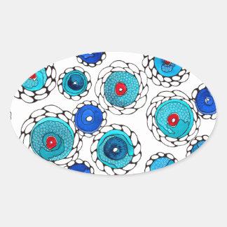 camelias oval sticker