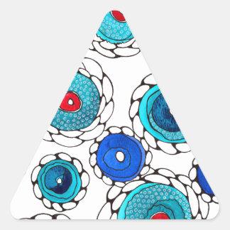 camelias triangle sticker