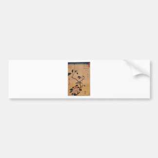Camellia and Bush Warbler by Hiroshige Bumper Sticker