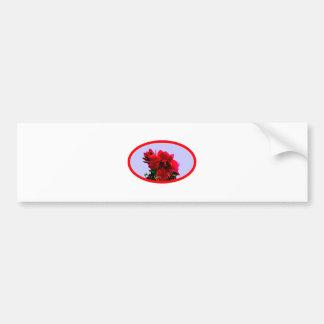 Camellia bg Blue The MUSEUM Zazzle Gifts Car Bumper Sticker
