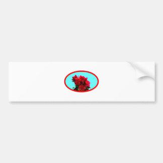 Camellia bg Cyan The MUSEUM Zazzle Gifts Car Bumper Sticker