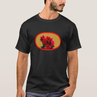 Camellia bg Gold The MUSEUM Zazzle Gifts T-Shirt