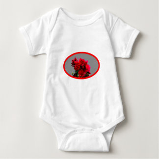 Camellia bg Silver The MUSEUM Zazzle Gifts Baby Bodysuit